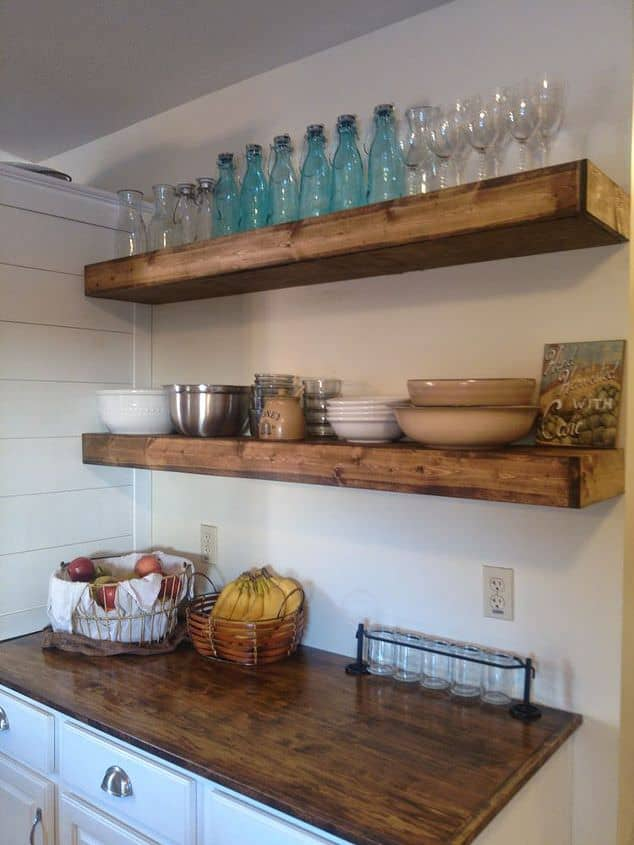 To Gain Extra Shelf Space In Your Kitchen With Style You Can Put Up Some Of