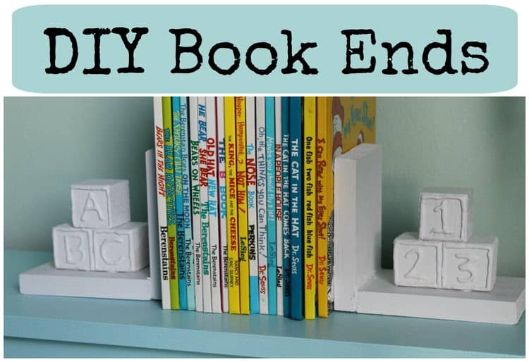 126 epic diy home decoration ideas you will love these diy bookends tie in the nursery theme with this functional element of the shelf solutioingenieria Choice Image