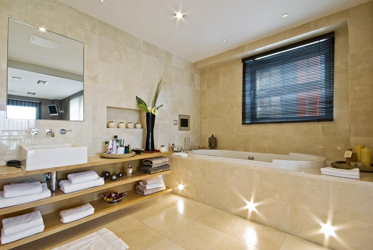 stylish bathroom lighting. delighful stylish most bathroom lighting is designed to function at eye level but sometimes  you need light a little lower if enjoy an evening soak in the tub  throughout stylish bathroom lighting b