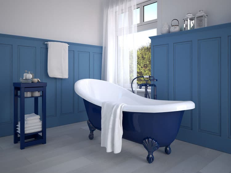 the key to a painted tub into your bathroom is to not try to match the wall or furniture colors to the tubu0027s instead work with various - Clawfoot Tubs