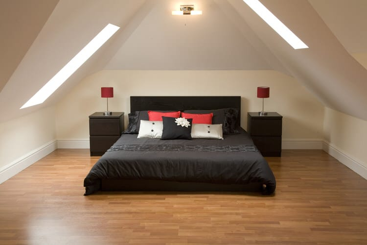 pairing red and black together will give you optimum visual contrast in a bedroom red lamps perched on black nightstands or red pillows nestled on an
