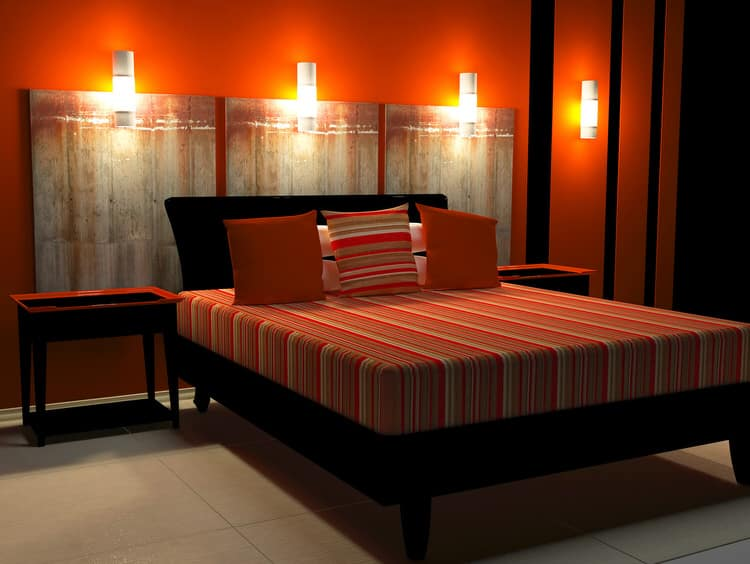 Black And Orange Bedroom 41 fantastic red and black bedrooms | interiorcharm
