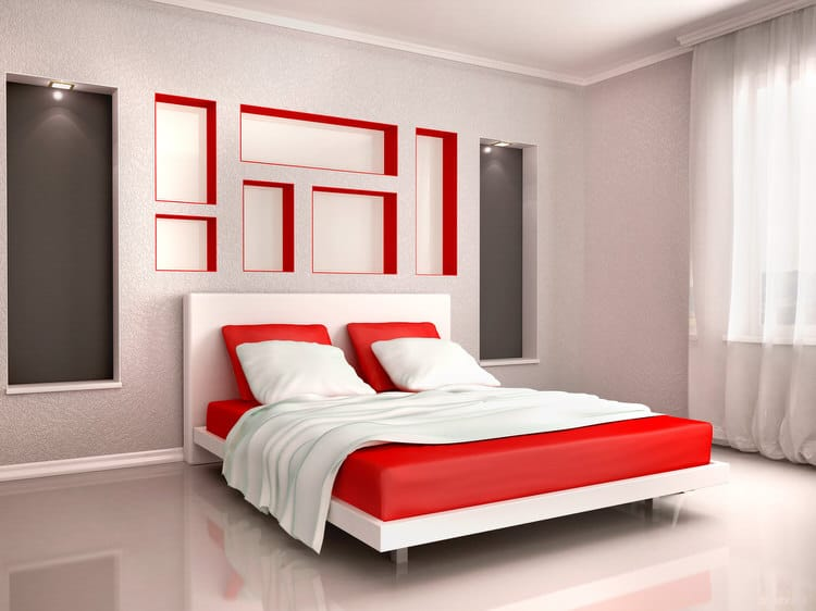 Modern Bedroom Red 41 fantastic red and black bedrooms | interiorcharm
