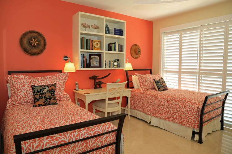 Bedroom Colors Orange View In Gallery Pops A Pastel Blue