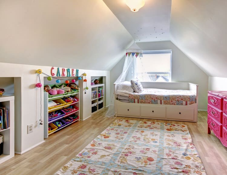 loft conversion ideas before and after - 50 Colorful Kids Bedroom Ideas