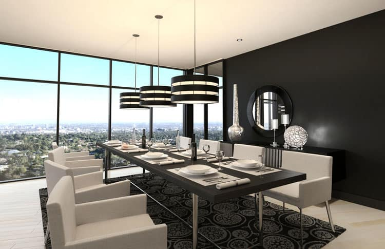 25 modern dining room designs many different styles for Dining room 3d view