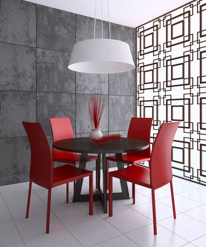 Go Bold With Your Walls In A Modern Dining Room. If Thereu0027s One Room  Perfect For Showing Off Your Bold Design Aesthetic, It Should Be The Dining  Room.