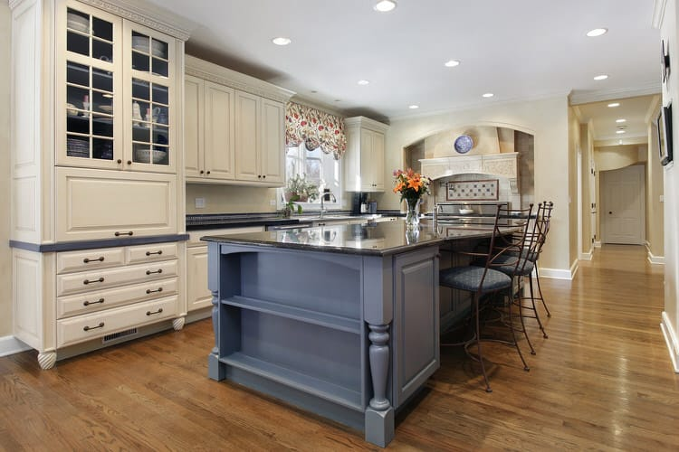 Smart Space Planning Divides This Gorgeous Country Kitchen Into Convenient  And Functional Work Areas. One Side Of The Island Is Strictly For Seating.