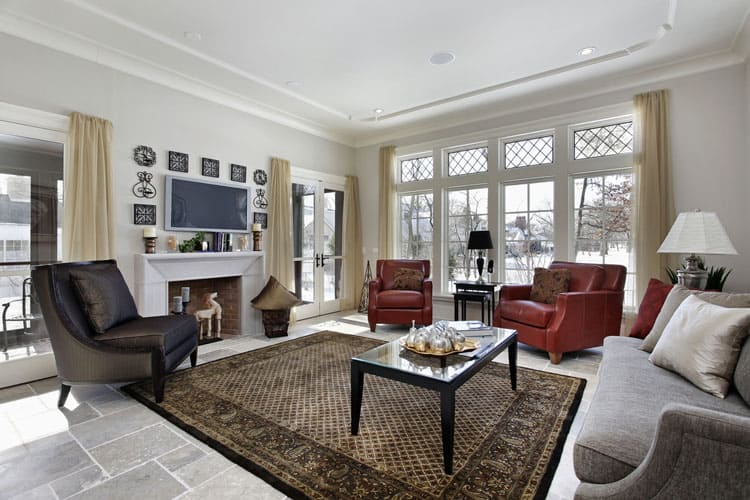 elegant living rooms. This living room shows the successful pairing of classic and elegant style  decorating Classic touches such as stone floor leaded glass window 28 Elegant Living Room Designs InteriorCharm