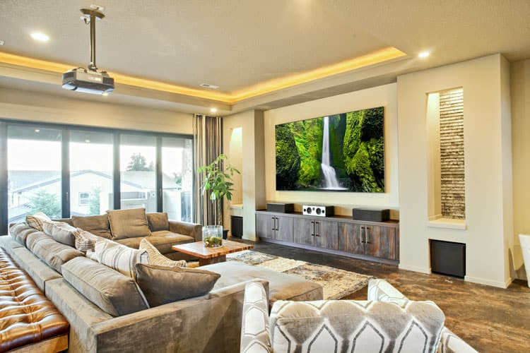 Skip The Theater This Living Room Is Place To Watch Latest Blockbuster Sectional Sofa Features Ample Seating Plus A Chaise Lounge And Its