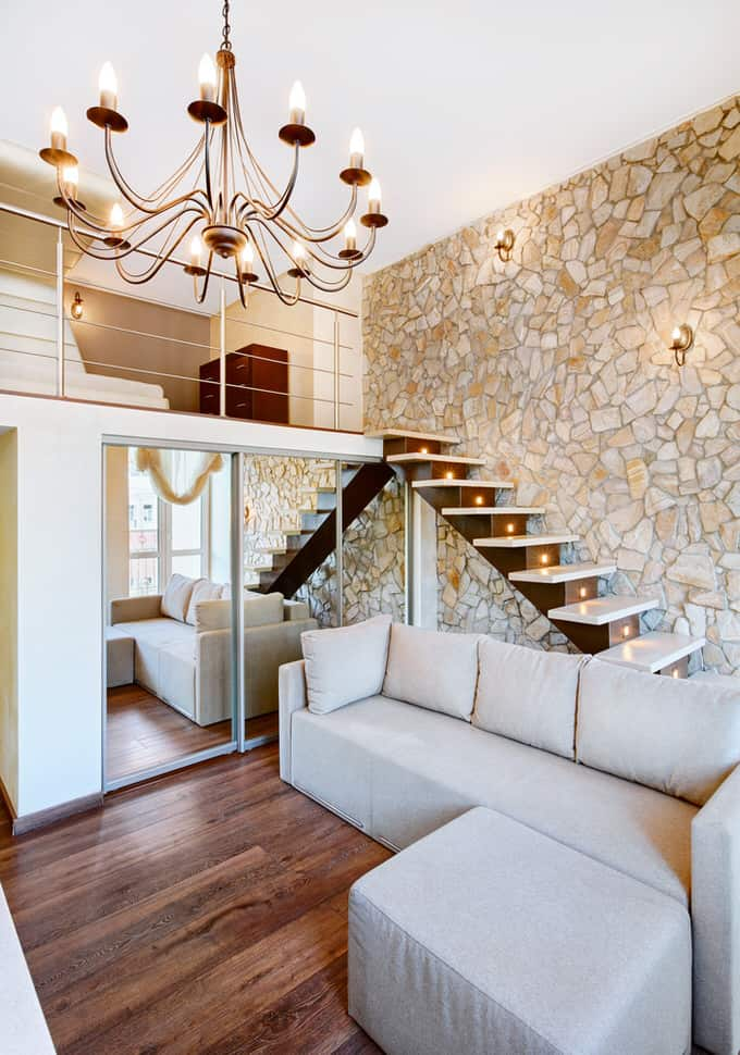 30 gorgeous living rooms with stone walls interiorcharm with the advent of ultra thin stone veneer its never been a better time to get the look of real stone in your living room covering a wall is a fairly sciox Choice Image
