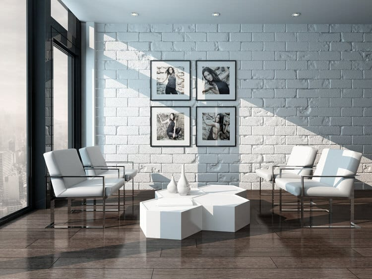 You Can Maintain The Wonderful Texture Of Natural Stone And Defuse The  Color By Painting It Out In Bright White. It Still Has The Same Visual  Impact, ...