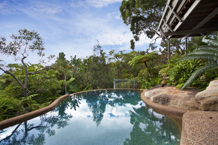 Eads Natural Pool And Backyard Resort : This pool is the perfect addition to the rainforest canopy resort The