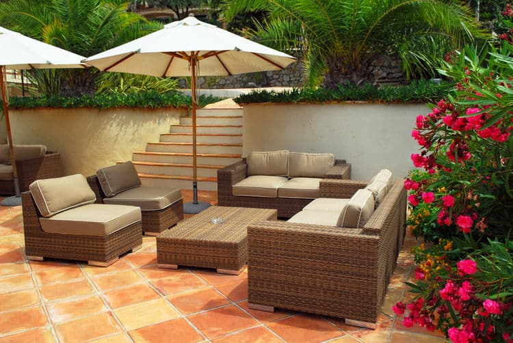 Anyone Who Thought That Wicker Patio Furniture Couldnu0027t Be Sophisticated,  Has Never Seen This Villau0027s Patio. The Villa, Located In The French Riviera,  ...