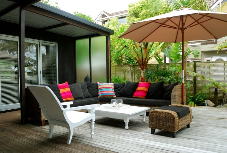 Small Lots Can Easily Accommodate Separate Outdoor Living Areas. The  Diminutive Deck Takes Up Every Bit Of This 500 Square Foot Space. The  Backyard Patio ...