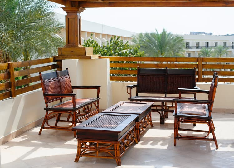 A View Of The Sea Is Really All You Need To Relax. However, This Stunning  Terrace Sure Doesnu0027t Hurt. The Rattan And Tanned Leather Seating And Tables  Can Be ...