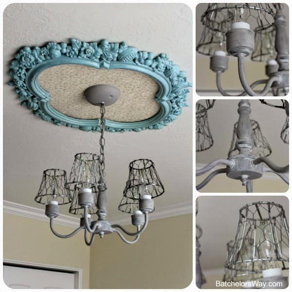 This shabby chic lighting fixture is a great way to introduce style and flash to your bedroom. There are many ways to personalize this piece. Let your personality shine through in this piece and make it your own.