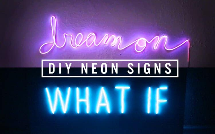 Light up your rooms with this bright idea! Use common items to construct your very own neon light words on the wall. Make them say whatever you want; add a personal touch and let your personality show!