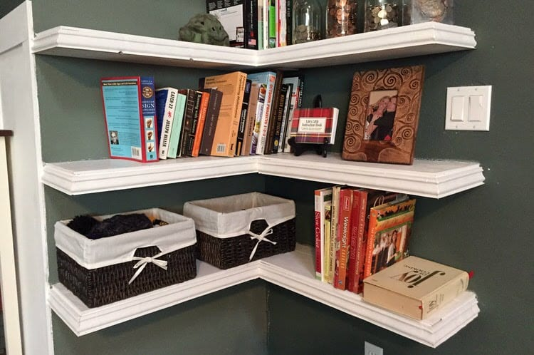 Here is some spectacular DIY shelving that can curve around corners and fit into hard to manage spaces. This project lets you make the most of your space with a creative and interesting shelving unit.