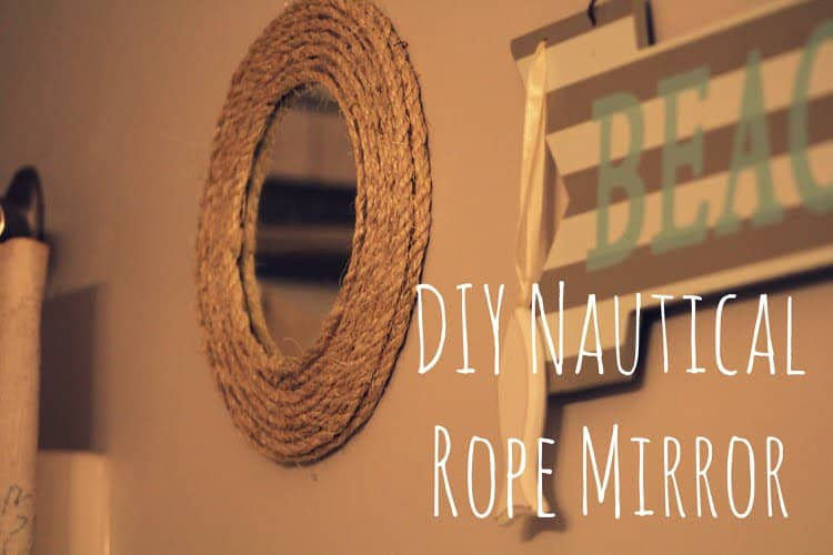 Mirrors are always an amazing addition. With this DIY project you can elevate a simple mirror to have a great nautical theme. This can tie into your beach theme and make you feel like you are by the ocean in no time.