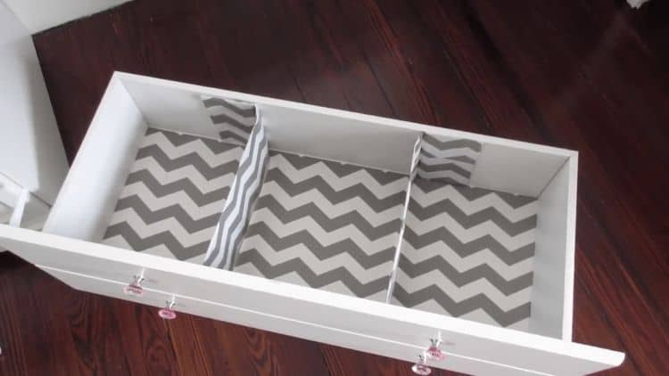 These drawer dividers will help you to stay organized in your nursery. In the nursery you will need to keep lots of small items organized. A full sized drawer may be too large to snugly hold children's items. This project lets you break this space up into smaller, more fitting sizes.