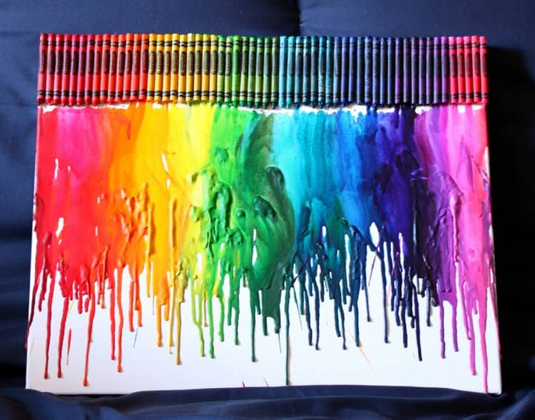 There are many amazing things you can do with crayons. This melted crayon piece is a fantastically colorful project that shows creativity and builds visual interest. Use all of the colors or just pick your favorite one! Whatever you choose, this project is a bright and interesting idea.