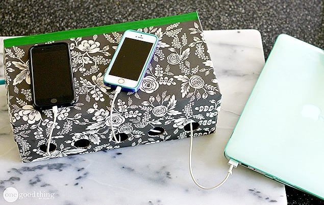 This is a cool project that can be used to hide unsightly power strips while making a really cool charging station for all kinds of devices. You can make a power charging necessity stylish as well as functional.