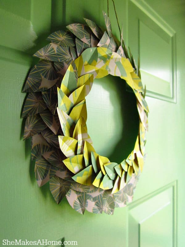 There always seems to be left over wrapping paper after holidays or birthdays. It is an inexpensive material that is easy to find. With this project you can create an interesting and fun wreath. Since there are so many kinds of wrapping paper, the designs for your wreath are endless.