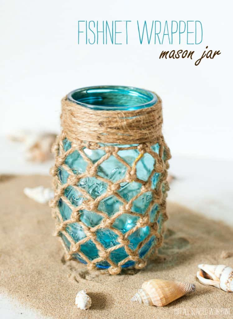 Here is a project that can give your old mason jars a nautical or beach theme. This DIY decorative mason jar is perfect for candles, lights, or even storage containers. There are countless uses for a lovely jar like this.