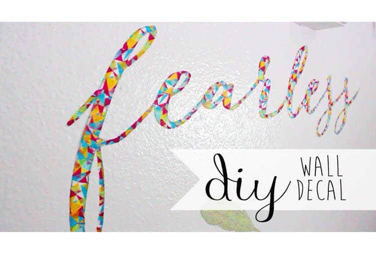 Washi tape also makes fantastic wall decorations. Spell out your name or your favorite message with a cool pattern or color.