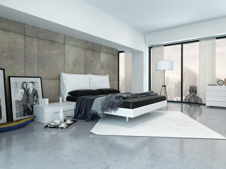 With Its Tone On Tone Color Scheme, White Furnishings And Accessories, This  Elegant Master Bedroom Has A Distinctly Urban And Masculine Feel.