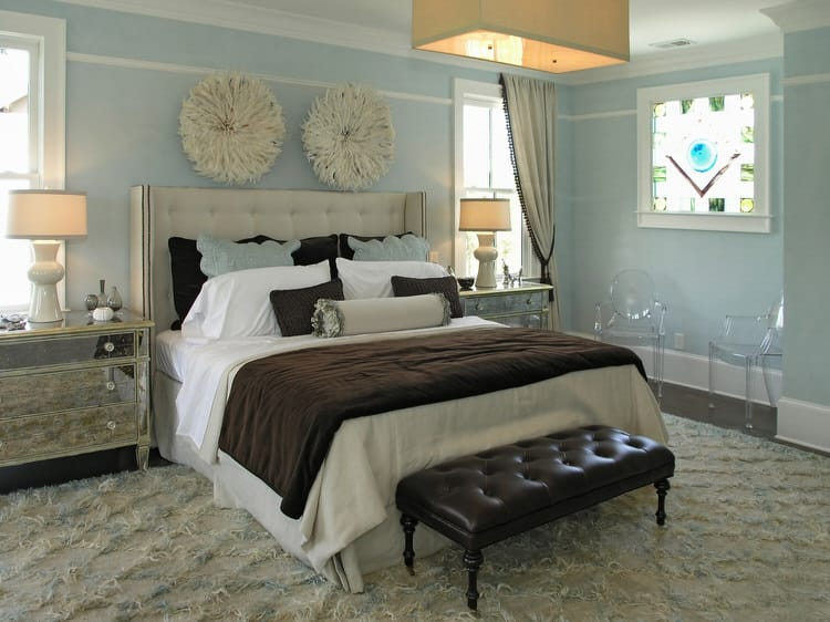 Pale Blue And Chocolate Brown Are The Perfect Pairing For This Updated Craftsman Master If You Want To Recreate Look Stay Away From Baby Opt