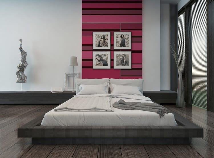 The Combination Of Red And Black Works Well As An Accent Or Can Be Used Overall Design Theme A Bedroom This Open Airy Modern Is Very