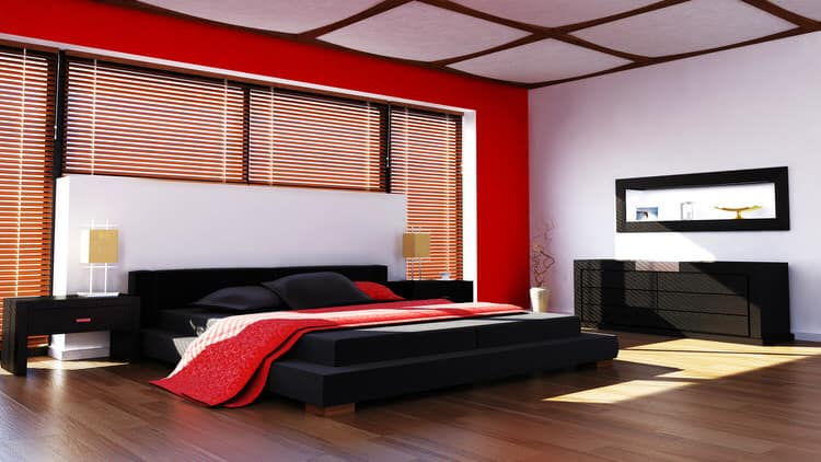 41 Fantastic Red And Black Bedrooms (PICTURES