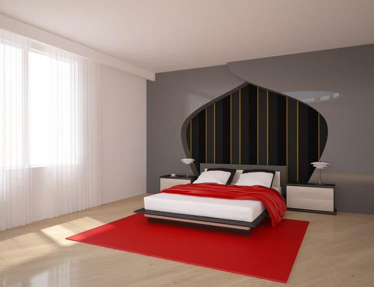 Rock The Casbahu2014or At Least Rock Your Bedroom With Red And Black Moroccan  Touches. In This Space, It Is Represented In The Stylized Arabesque Cutout  On The ...