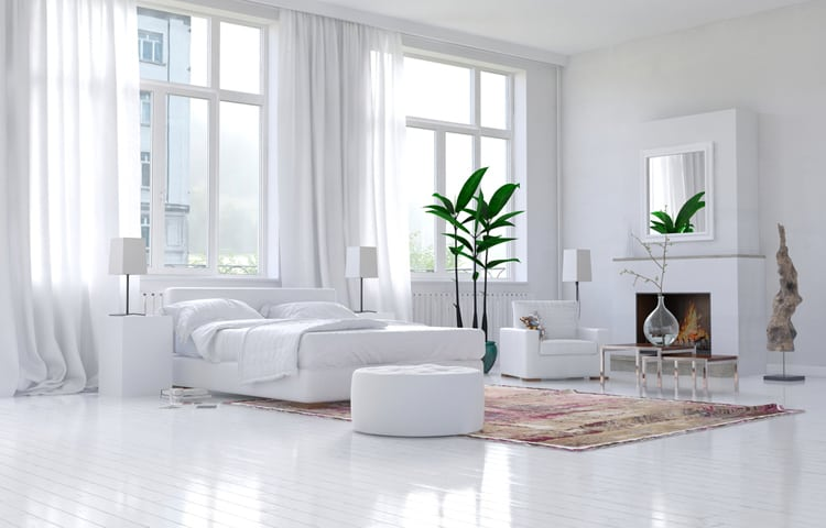 White Bedroom Decorating Ideas PICTURES 😍 Classy Simple White Bedroom
