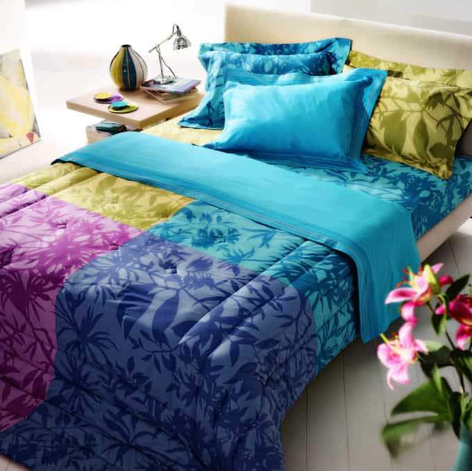 Forget Neutrals A Splash Of Color Is What You Need To Revive Your Boringly Beige Bedroom This Fresh Fl Comforter Features Blocks Saturated Teal