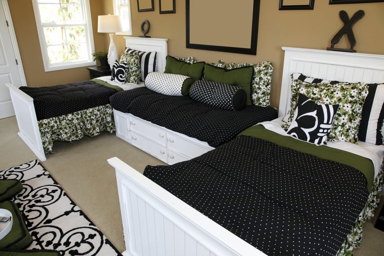 This Sophisticated Bedroom Idea Came Straight From The Mind Of A Designer  Who Wanted To Surprise Her Daughters While They Were Away At Summer Camp.
