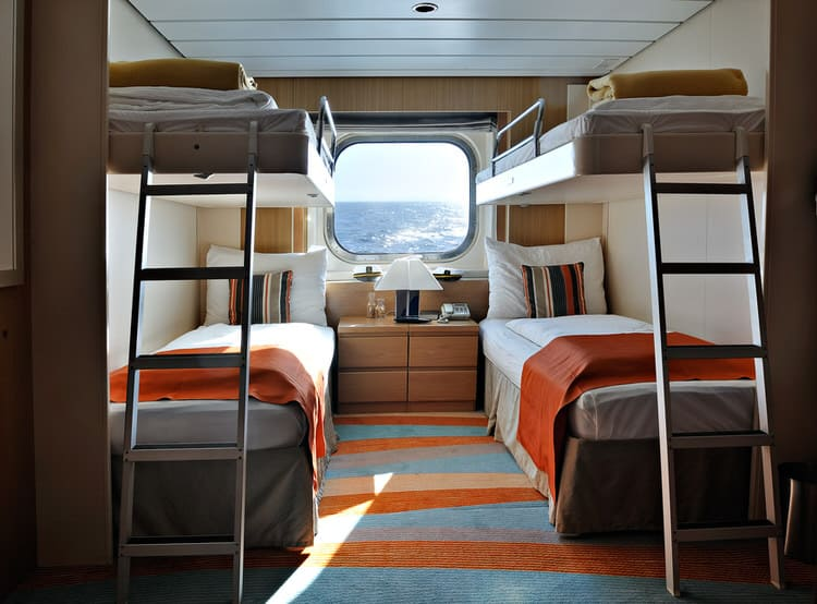 This Nautical Bedroom Is The Most Efficient Use Of Space Weu0027ve Seen In A  Long Time. Within A Very Limited Footprint, The Designer Managed To Squeeze  In Four ...