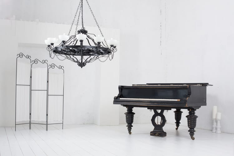 39 charming chandeliers for any room pictures think beyond the dining room and entry when considering chandelier lighting a chandelier in the bathroom bedroom closet or music room will inject a huge aloadofball Image collections