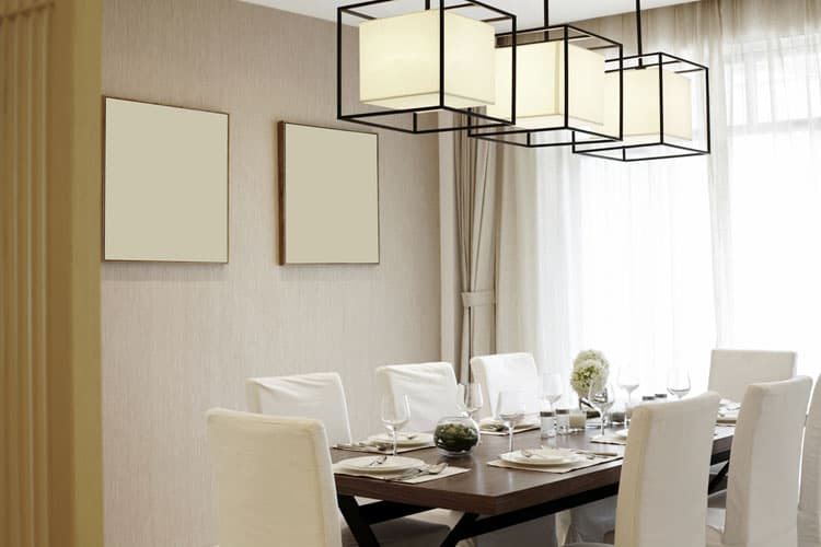 Repetition Strengthens This Modern Dining Rooms Design If Your Room Lacks Color And Pattern The Best Way To Add Interest Is By Employing Principles