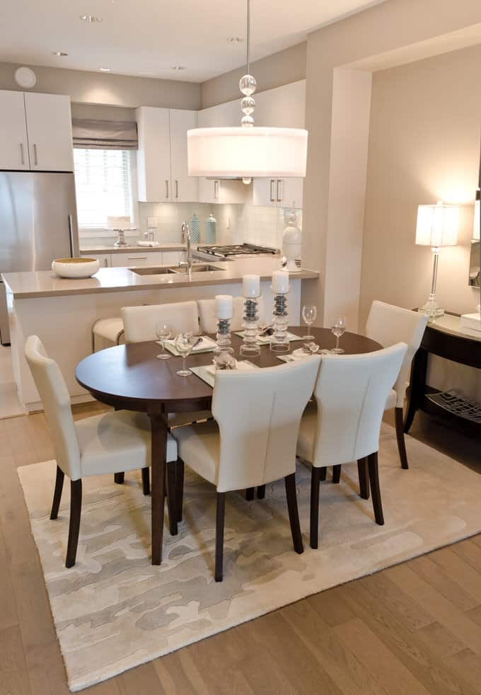 In Many Newer Homes, The Dining Room May Actually Be Part Of An Open  Concept Plan Combining Living, Dining And Kitchen Areas. Take A Cue From  This Dining ...