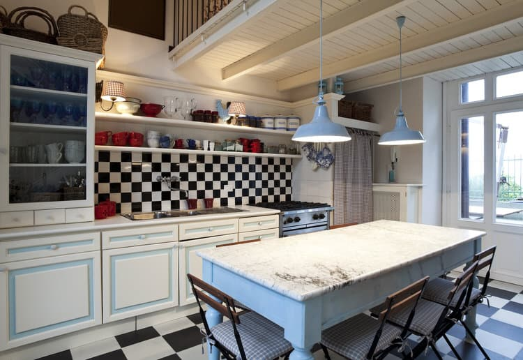 43 Beautiful Dream Kitchens (Pictures) on black and white checkered canister sets, black and white tile kitchen floor, black and white kitchen designs, black and white kitchen floor rug,