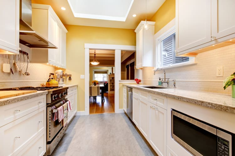 32 Galley and Corridor Kitchens (Pictures)