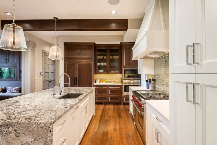 The Juxtaposition Of Surfaces And Colors Creates Drama And Interest In This  Oversized Galley Style Kitchen. The Variety Of Finishes And ...