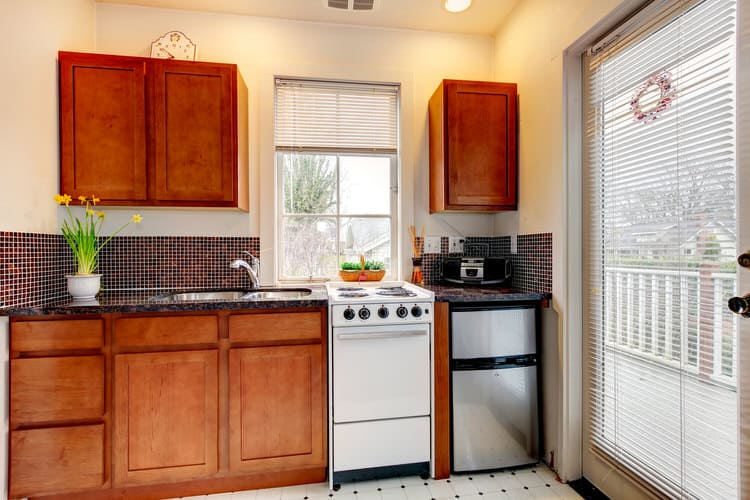 The Grand Victorian Has A Small Converted Studio Apartment That Is Modest But Clean And Functional Kitchen Features Minimal Cabinets Offering Enough