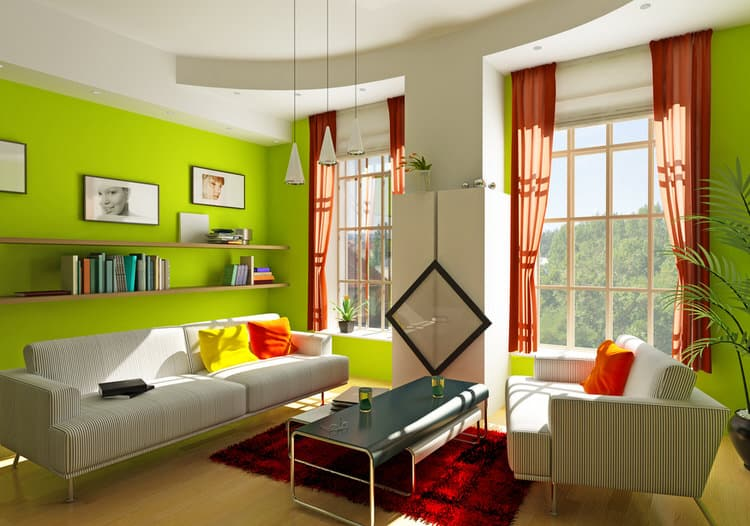 45 Colorful Living Rooms Pictures