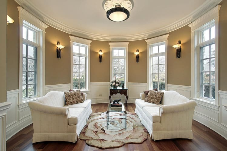 Charming Classic And Elegant Touches Abound In This Living Room. The Wainscoting And  Wall Sconces Were Carefully Planned And Beautifully Executed.