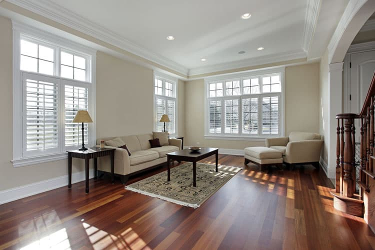This Room S Hardwood Floor Is Truly The Cherry On Top Rich Dark Wood Floors Make Feel Both Luxurious And Comfortable