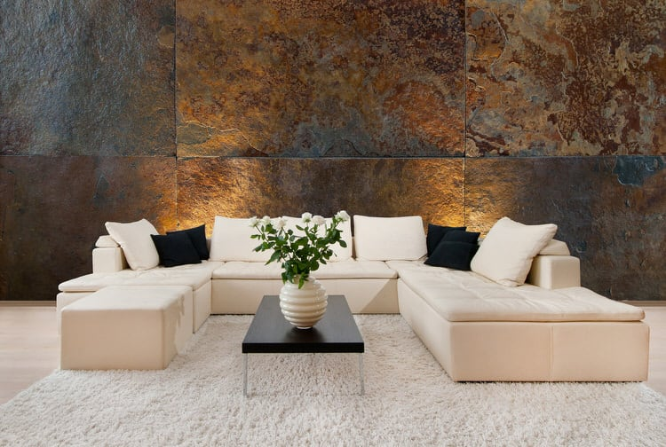 If You Want To Decorate An Expansive Wall Area Consider Using Large Sections Of Stone It Will Match The S Scale As Well Create Greater Visual